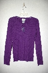 "MBAMG #25-001  ""Chadwicks Purple Knit Button Top Sweater"""