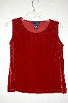 "MBMG #25-125  ""Denim & Co Red Velvet Stretch Tank"""