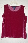 "MBAMG #25-122 ""Denim & Co Mauve Velvet Stretch Tank"""
