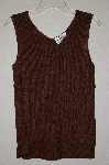 "MBAMG #25-256  ""Louis Dell'Olio Brown Stretch Ribbed Sweater Tank"""
