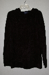 "MBAMG #25-045  ""Denim & Co Black Chenille Long Hooded Pullover Sweater"""