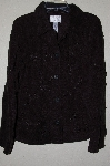 "**MBAMG #25-048  ""Susan Graver Black Floral Applique Fleece Jacket"""