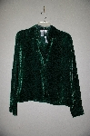 "MBAMG #25-282  ""Coldwater Creek Green velvet Burnout Blouse & Tank Set"""
