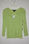 "MBAMG #25-279  ""Cable & Gauge Lime Green Knit Cardigan"""