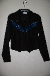 "MBAMG #25-293  ""Banjo Black One Of A Kind Hand Beaded Western Shirt"""