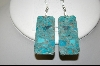 **MBA #7678  Blue Turquoise Earrings
