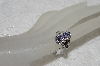 "**MBAMB #25-232  ""14K White Gold Tanzanite & Diamond Ring"""