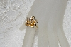 "**MBAMG #25-213  ""14K Yellow Gold Diamond Accent Dimensional Rose Ring"""