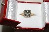 "**MBAMG #25-203  ""14K Yellow Gold Green Amethyst & Diamond Ring"""