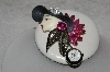 "MBAMG #25-163  ""Fancy Hand Made Fashion Brooch With Watch"""