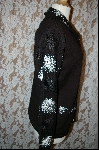 "+MBA #7763   ""StoryBook Knits Limited Edition Black Sequined Sweater"