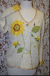 "+MBA #7872   ""StoryBook Knits Limited Edition Cream Colored SunFlower Sweater"