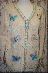"+MBA #7866   ""StoryBook Knits Limited Edition Cream Colored Butterfly Sweater"