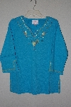 "**MBANF #583  ""Quacker Factory Sparkle Embelished 3/4 Sleve Top"""