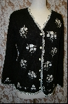 "+MBA #7861   ""StoryBook Knits Limited Edition Black Floral Bouquet Sweater"