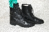 "**MBANF #314  ""On Course Black Leather Lace Up Western Boots"""