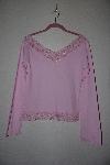 "**MBANF #603  ""Body Central Fancy Lace & Bead Trimed Pink Stretch Top"""