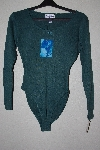 "**MBANF #625  ""Betty Blue Green Stretch Body Suit"""