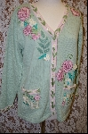 "+MBA #7896   ""StoryBook Knits Limited Edition Pale Green ""RN"" Sweater"