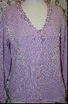 "+MBA #7890   ""StoryBook Knits Limited Edition Lavender Floral Embroidered Sweater"