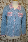 "+MBA #7879   ""StoryBook Knits Limited Edition Lt Blue Crochet Accented Sweater"