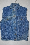 "**MBAMG #11-0709  ""Anchor Blue Light Denim Button Front Vest"""