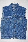 "**MBAMG #11-0714  ""Anchor Blue Medium Denim Button Front Vest"""