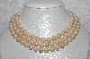 "+MBAMG #11-0818  ""14K Cultured Freshwater Pearl Triple Strand Nested  Necklace"""