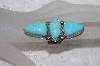 "** MBAMG #11-0914  ""David Troutman Adjustable 3 Stone Blue Turquoise Ring"""