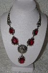 "**MBAMG #11-0831  ""Clem Nelwood Created Ruby Sterling Necklace"""