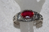 "MBAMG #11-0814  ""Clem Nelwood Created Ruby Sterling Cuff Bracelet"""