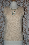 "+MBA #7852   ""StoryBook Knits Limited Edition Cream Colored Butterfly Tank"