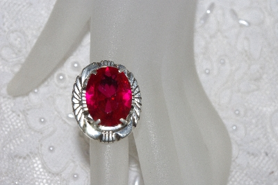 "+MBAMG #11-0904  ""L. Bennette Created Ruby Sterling Ring"""