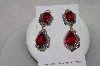 "+MBAMG #11-0881  ""Native American Made Created Ruby Sterling Earrings"""