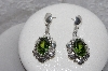 "+MBAMG #11-0929  ""Native American Made Peridot Sterling Pierced Earrings"""