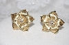 "MBAMG #11-0933  ""**14K Yellow Gold Diamond Flower Earrings"""