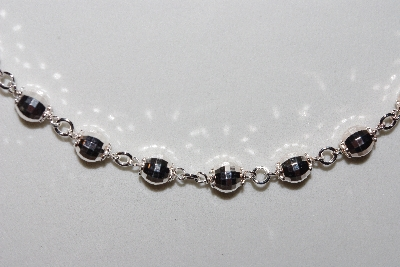 "**MBAMG #11-0976  ""Sterling Diamond Cut Bead Necklace"""