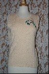 "+MBA #7848   ""StoryBook Knits Limited Edition Cream Colored Rose Embroidered Tank"