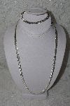 "**MBAMG #11-0888  ""Sterling Cleopatra Necklace & Bracelet Set"""