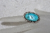 "**  MBAMG #11-0875  ""Artist Signed ""C. Law"" Sterling Turquoise Ring"""