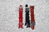 "*MBAMG #11-1038  ""Set Of 3 Ecclissi Leather Watch Straps"""