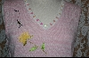 "+MBA #7843  ""StoryBook Knits Limited Edition Pink & White Floral Tank W/ Bumble Bee"