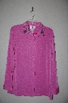 "MBAMG #79-128  ""Quacker Factory Pink Stretch Knit Studs & Stones Twin Set"""