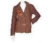 "**MBAMG #79-044  ""Denim & Co Brown  Embroidered Denim Jacket"""