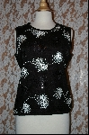 "+MBA #7835  ""StoryBook Knits Limited Edition Black Sequined Tank"